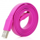 Universal Flat USB 2.0 Data / Charging Cable with Micro USB Port for Samsung / HTC + More - Purple