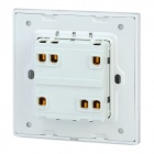 SMEONG Glass Panel Two Gang Power Control Wall Switch - White