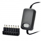 "1.0"" LCD Laptop Notebook Power Adapter w/ 7 x Connectors for Car / Home"