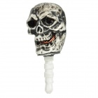 Skull Style 3.5mm Anti-Dust Plug with Caller Signal Flashing for Iphone / Cell Phone - Black + White