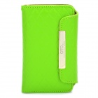 OMO Protective PU Leather Flip-Open Case for iPhone 4 / 4S - Green