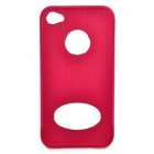 Protective Aluminum Alloy Case with Screen Protector Film for Iphone 4 / 4S - Red