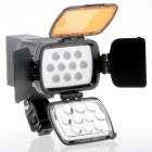 Buy 20W 1800Lux 10-LED Video Light Battery / Connector Adapter Charger Color Filter