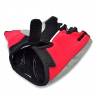 Outdoor Sports Cycling Half Finger Gloves - Red + Black + Grey (Pair/Size-XL)
