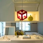 Creative Hollow Out Red Cubic Frame Pendant Light (110-120V)