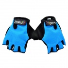 Outdoor Sports Cycling Non-slip Half Fingers Gloves - Blue + Black
