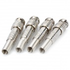 Watermelon Rind Pattern Solder-type BNC Plugs - Silver (4-Piece Pack)
