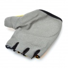 Outdoor Sports Cycling Non-slip Half Finger Gloves - Yellow + Grey