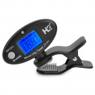 "0.9"" LCD Digital Acoustic Clip-on Tuner Metronome Tone Generator - Black (1 x CR2032)"