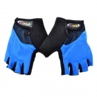 Outdoor Sports Cycling Half Finger Gloves - Blue + Black (Pair/Size-XL)