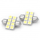 Soffitte 31mm 8x5050 SMD LED 2W 90 ~ 125lm White Light Brake / Luft-/ Leseleuchten (2-Pack)