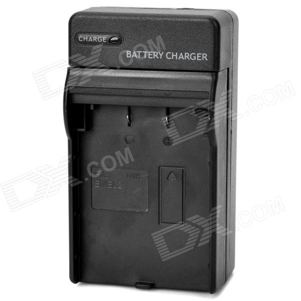 Digital Battery Charger for Nikon EN-EL2 - Black