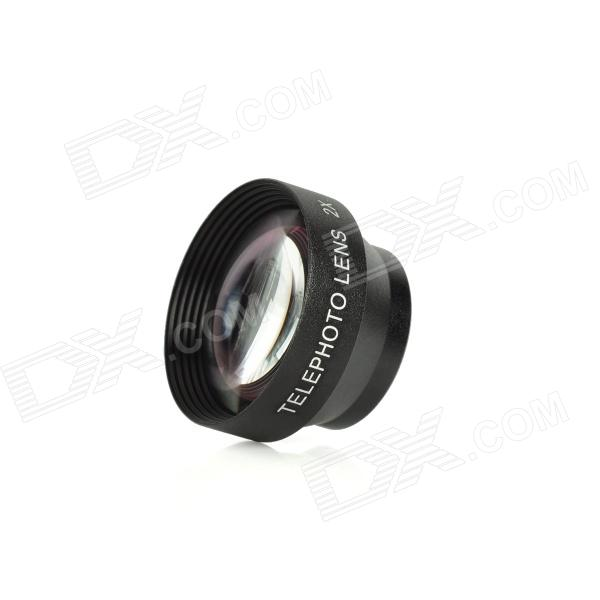 2.2X Pro Digital Precision Cellphone Camera Telephoto Conversion Lens - Black universal 2 in 1 0 65x wide angle macro lens glass filter for cellphone tablet pc black