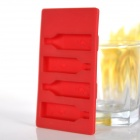 Silicone Winebottle Shaped Ice Cubes Trays Maker DIY Mould - Red