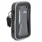 Outdoor Sports Bike Handle Bar Waterproof Bag for Mobile Phones - Black