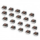 UU9.8 10mH Common Mode Inductor Line Filter - Black + Copper (20-Piece Pack)
