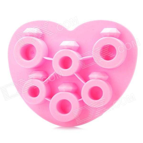 Silicone Love Ring Shaped Ice Cubes Trays Maker DIY Mould - Random Color silicone skeleton shaped ice cubes trays maker diy mould random color