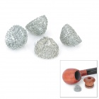 15mm Zinc Alloy Tobacco Pipe Screen Filter Ball Net Ball - Silver (4-Piece Pack)
