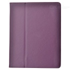 Stylish Protective PU Leather Case for The New Ipad - Purple