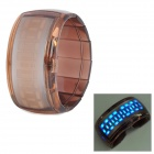 Multi-Function Digital Blue LED Wrist Watch - Brown (1 x CR2032)