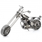 Mode Metall Mini-Motorrad Handwerk Display Modell - Dark Silver