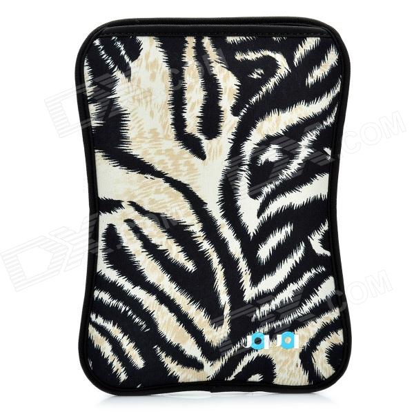 Stylish Protective Diving Cloth Inner Bag Pouch for Samsung Galaxy Tab P1000 - Black + Beige