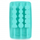 Silicone Ice-Sugar Gourd Shaped Ice Cubes Trays Maker DIY Mould - Cyan