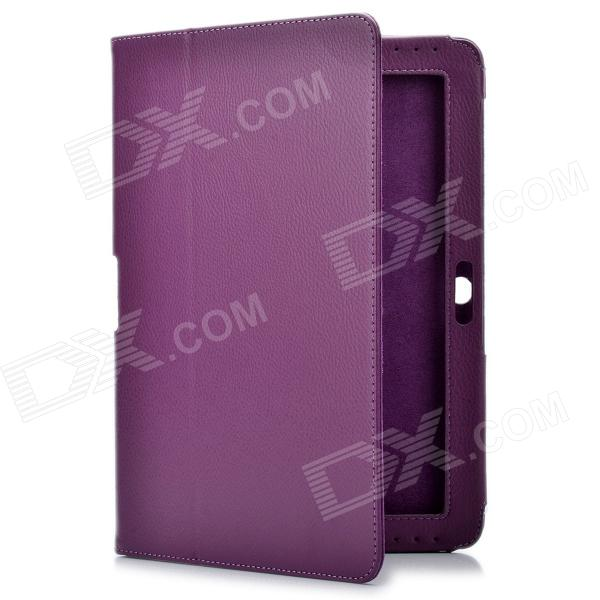 Protective PU Leather Case for Samsung Galaxy Tab 2 P5100 - Purple g cover pu leather hand bag for ipad 2 3 4 samsung galaxy tab p5100 10 table pc blue