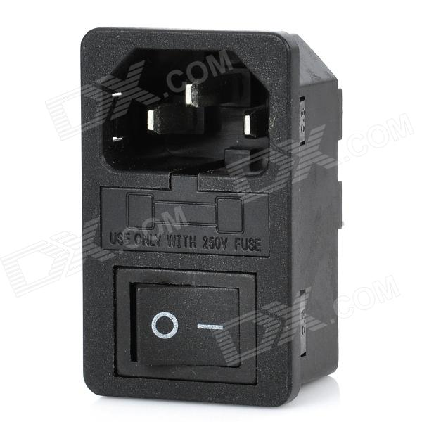 Electrical Power Control On/Off Rocker Switches with Fuse Base 5 pieces lot ac 6a 250v 10a 125v 5x 6pin dpdt on off on position snap boat rocker switches t1404 p0 4