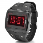 LED Digital Touch Screen Red Backlight Wrist Watch - Black (1 x CR2016)