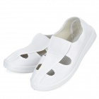 Anti Static 4-Hole Canvas Shoes - White (Pair / Size 38)
