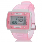 Sports Water Resistant Quartz Digital Wrist Watch - White + Pink (1 x LR1130)