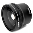 52mm 0.25X Super Wide Angle Fish Eye  w/ 12.5X Macro Lens - Black