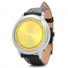 LED Digital Touch Screen Blue Backlight Wrist Watch - Yellow + Black (2 x CR2016)