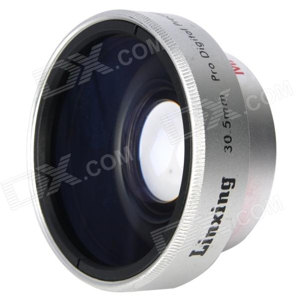 30.5mm 0.45X Pro Digital Precision Camera Wide Angle Conversion Lens w/ Macro - Silver 52mm 0 45x pro digital precision camera wide angle conversion lens w macro black