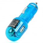 Car Cigarette Powered Adapter Charger with USB Output - Blue