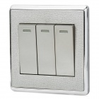 SMEONG Three Gang Power Control Wall Switch - Champagne