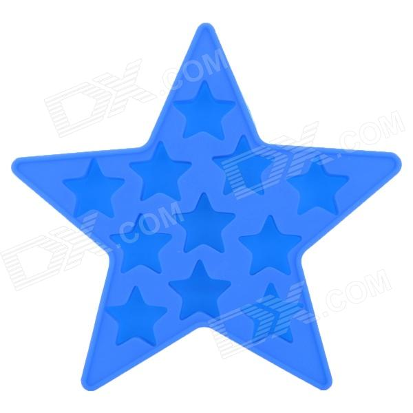 Silicone Five Pointed Star Shaped Ice Cubes Trays Maker