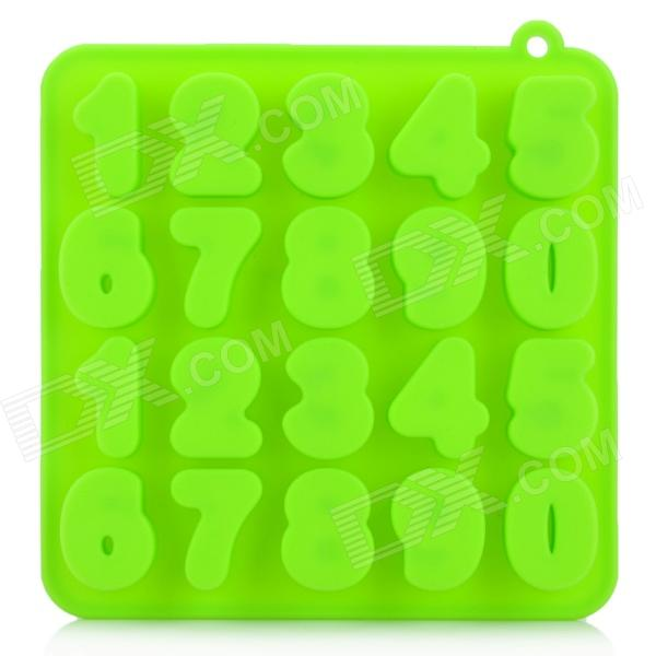 Silicone Number Style Ice Cubes Trays Maker DIY Mould - Green silicone skeleton shaped ice cubes trays maker diy mould random color
