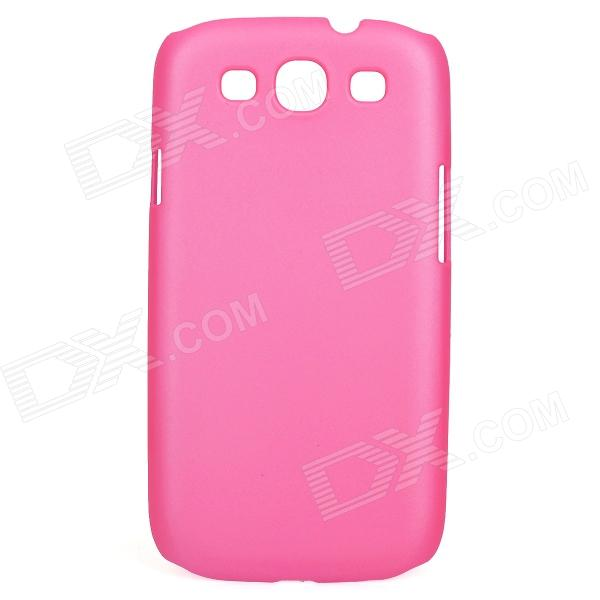 Protective Matte PC Back Case for Samsung i9300 - Deep Pink