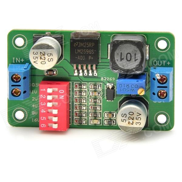 DC 5~36V to DC 1.5~32V Converter Step Down Power Module (LM2596S) dc dc automatic step up down boost buck converter module 5 32v to 1 25 20v 5a continuous adjustable output voltage