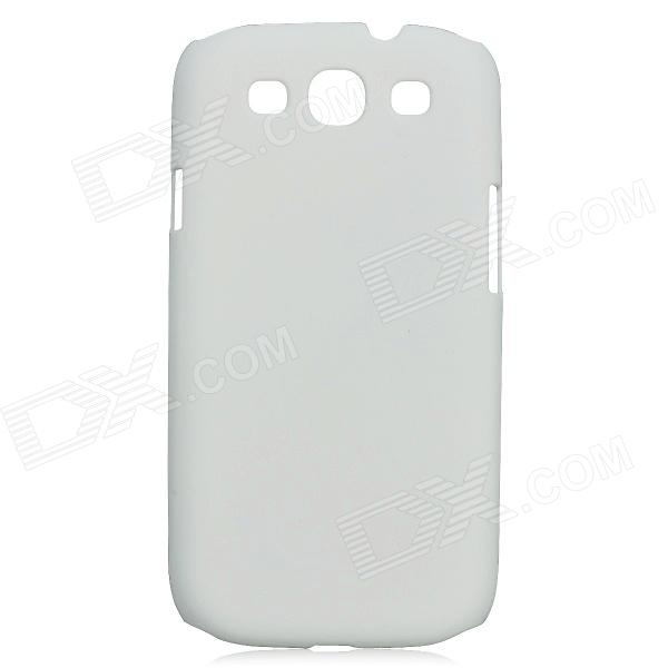 Protective Matte PC Back Case for Samsung i9300 - White