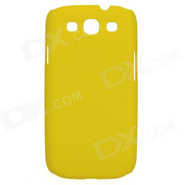 Protective Matte PC Back Case for Samsung i9300 - Yellow