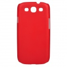 Protective Matte PC Back Case for Samsung i9300 - Red