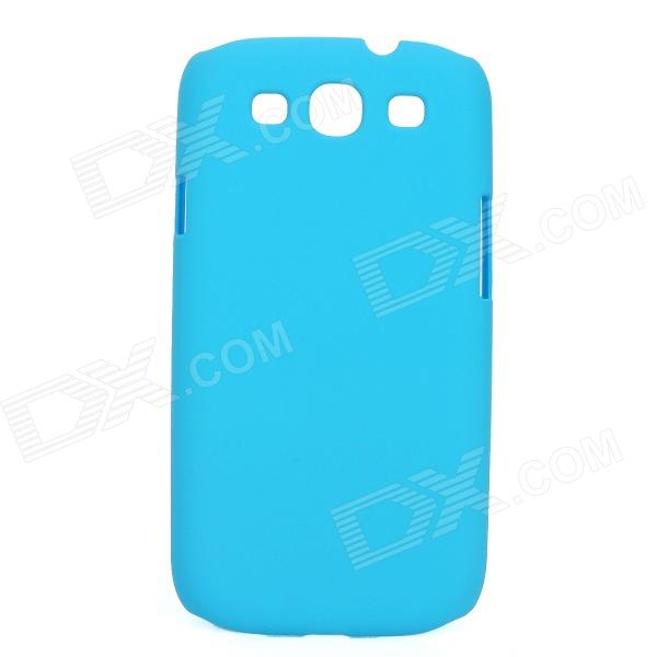 Protective Matte Plastic Back Case for Samsung i9300 - Light Blue