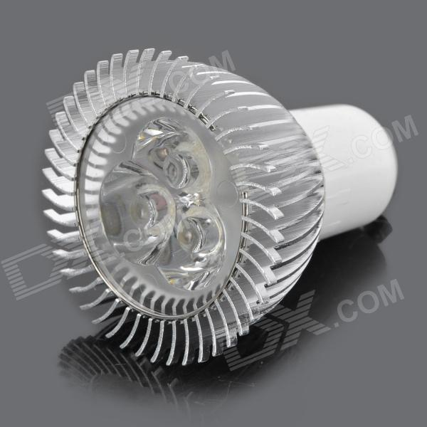 GU10 3W 280~300LM 6000~6300K 3-LED White Light Bulb (90~265V)