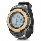 Sports Water Resistant Quartz Digital Wrist Watch - Black + Golden (1 x LR1130)
