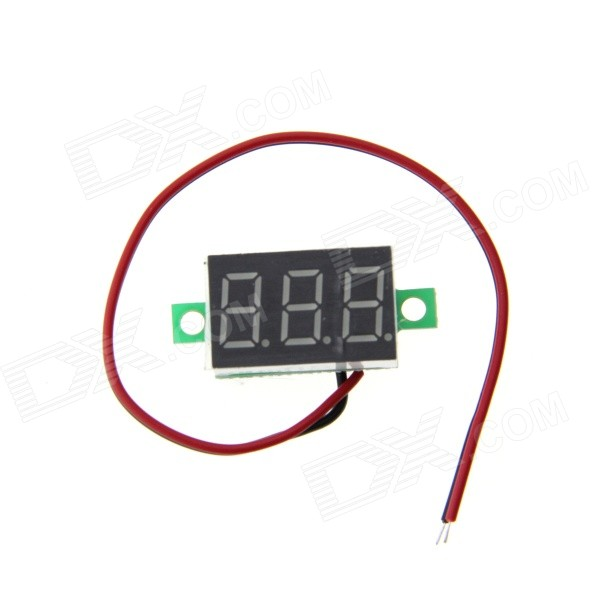 Mini 3-Digit Display Digital Voltmeter Module (3.2~30V) 0 36 3 digit blue light 7 segment voltmeter module black green 3 2 30v