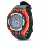 Sports Water Resistant Quartz Digital Wrist Watch - Orange + Black (1 x CR2025)