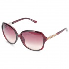 UV400 UV Protection Resin Lens Sunglasses with Carrying Case - Burgundy